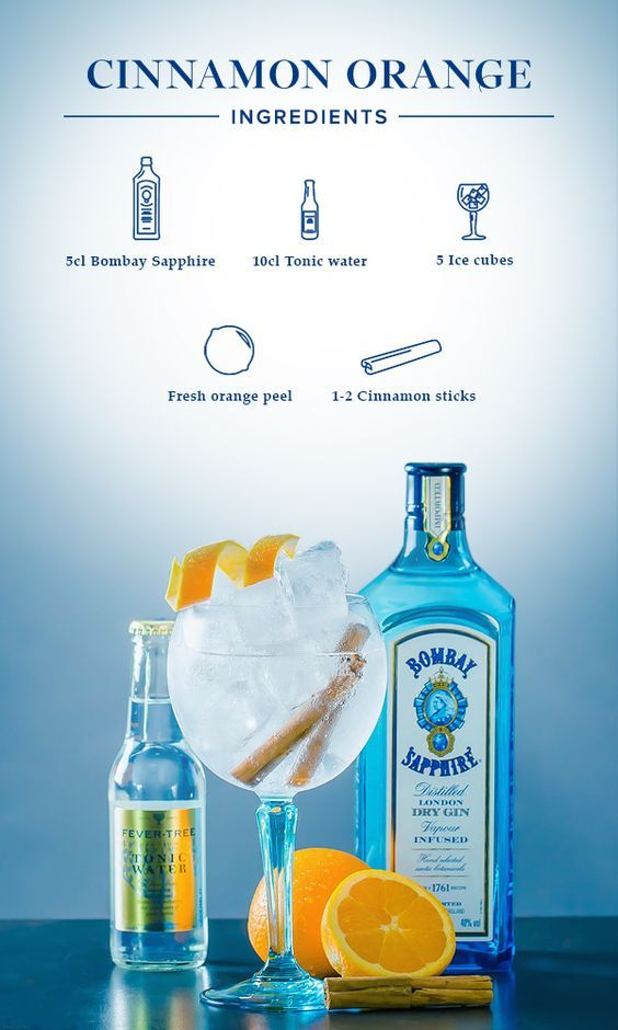 Cogintonic Canela Naranja Recetas De Tragos Tragos Con Alcohol Bebidas Alcoholicas Recetas