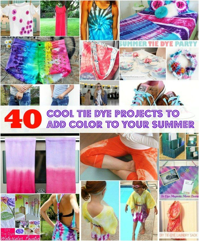 8e3cf62ff8dc 40 Cool Tie Dye Projects to Add Color to Your Summer – DIY   Crafts
