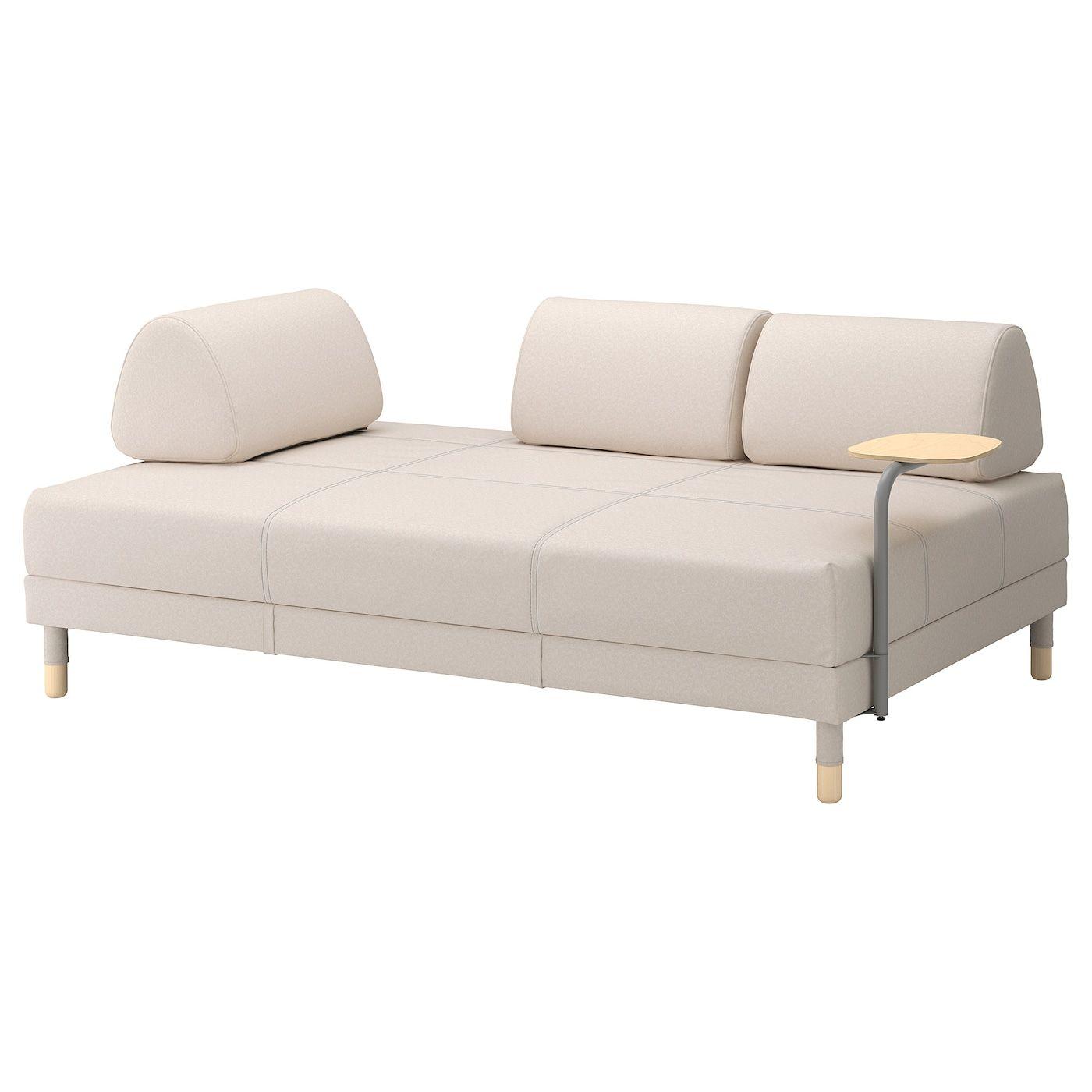 Cool Flottebo Sleeper Sofa With Side Table Lofallet Beige In Ibusinesslaw Wood Chair Design Ideas Ibusinesslaworg