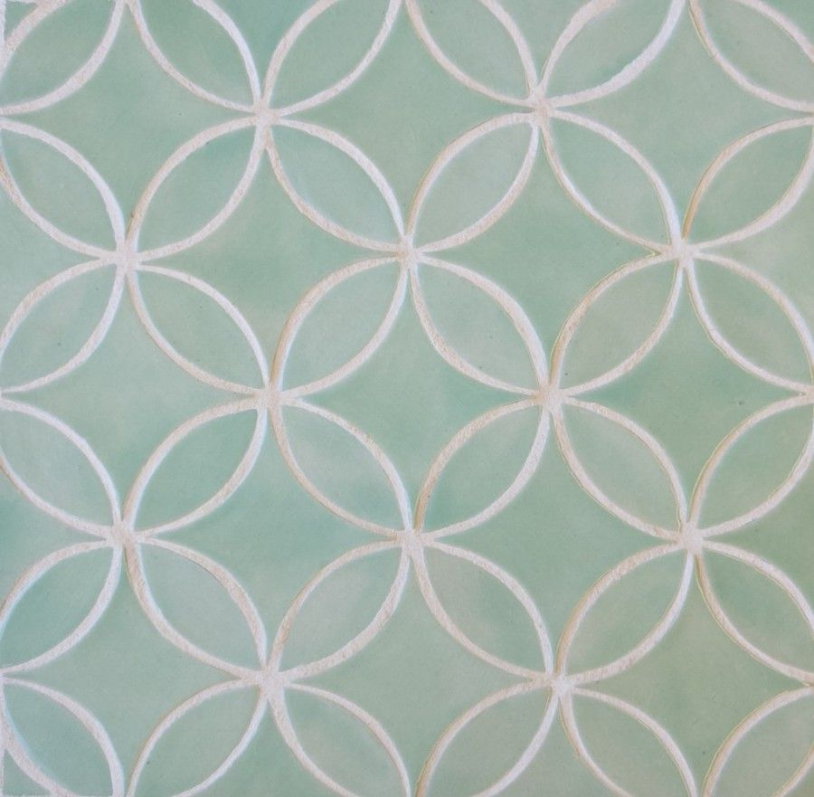 Moroccan Circles in Seaglass   Counter tops, Granite, Tile, Marble ...