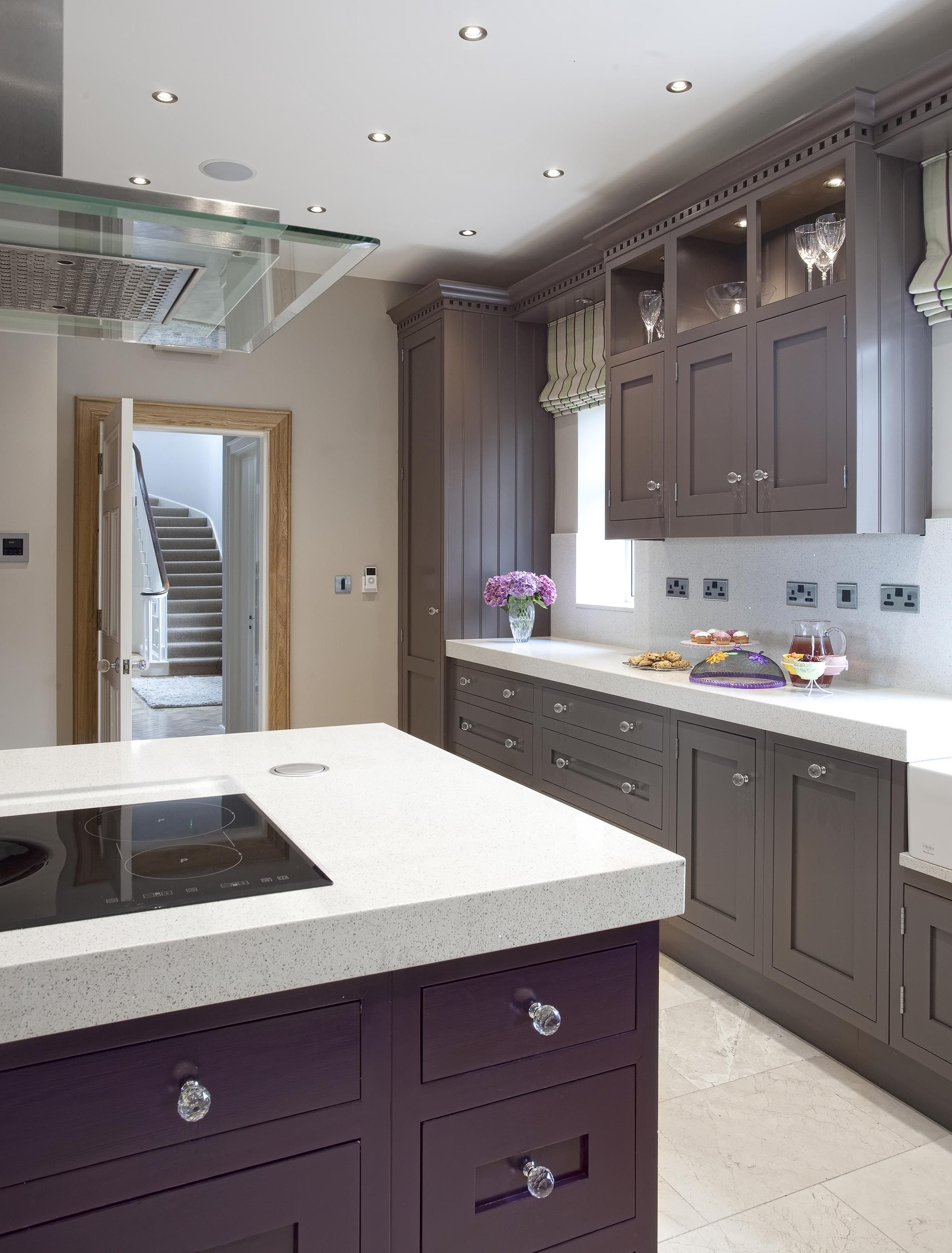 Kitchen Ideas London detailed picture of f&b 'london clay' + damson painted kitchen