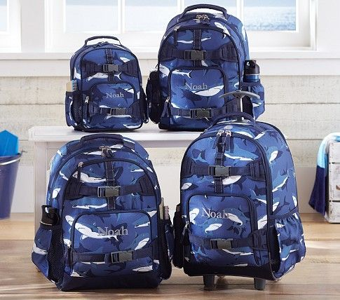 7cf80b497feb Mackenzie Blue Shark Backpacks