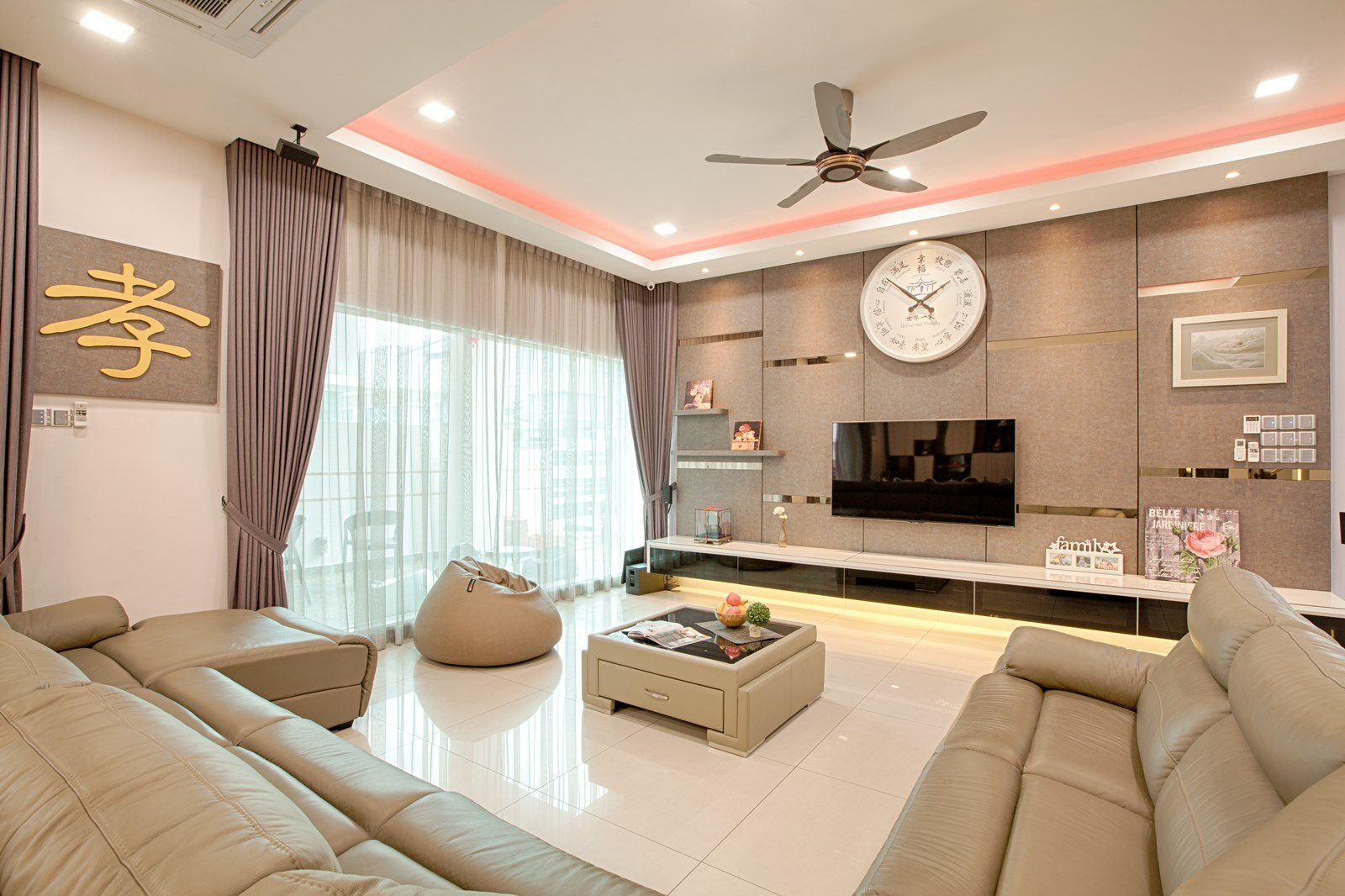 Feng Shui Elements Abound In This Malaysian Home Feng Shui Living Room Design Bathroom Furniture
