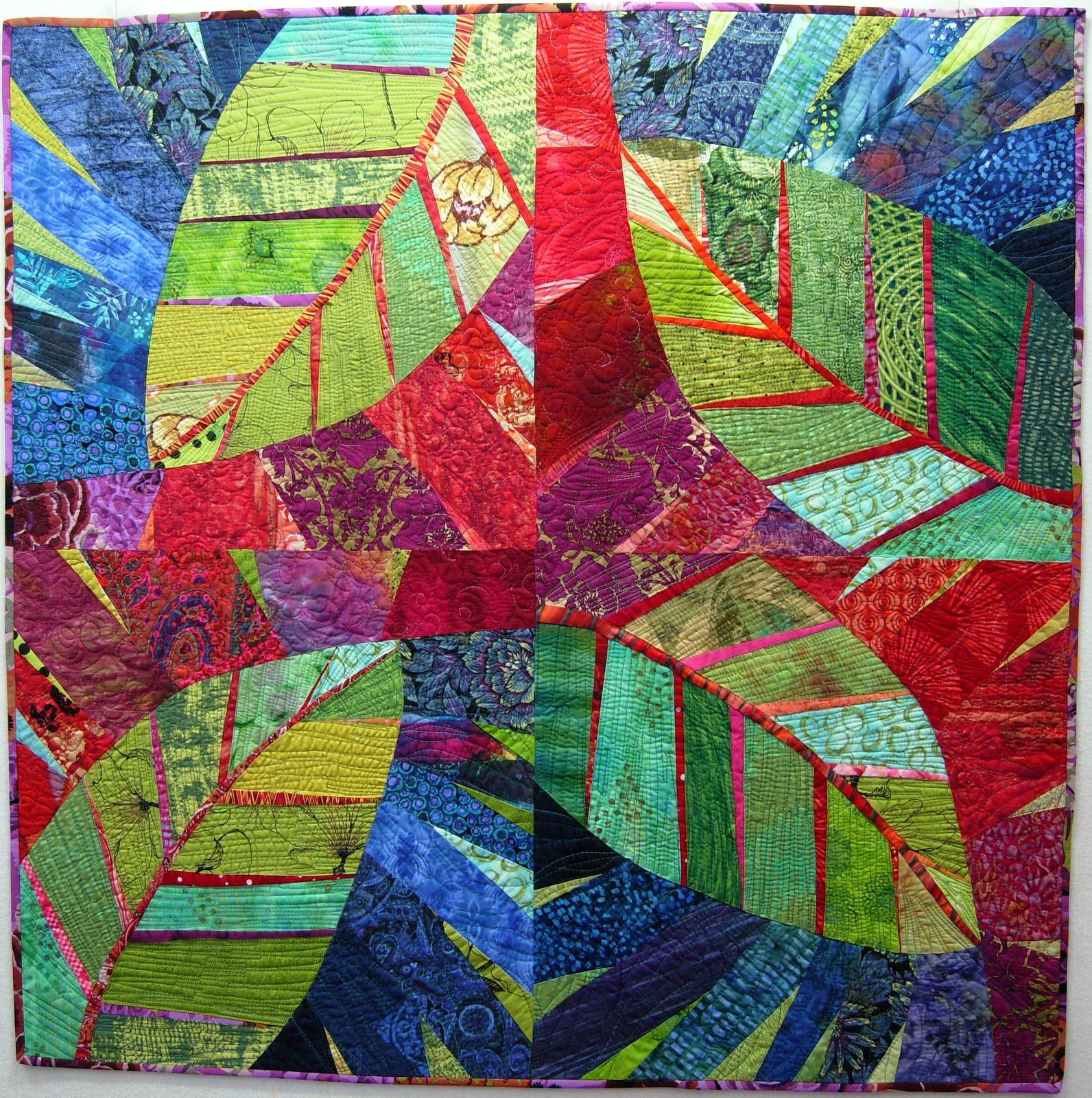 This Is Pat S Lovely Big Leaf Quilt That She Made As A