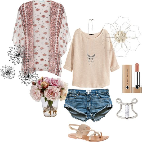flower 1 by dawnhall-1 on Polyvore featuring H&M, Lane Bryant, Vanessa Mooney, Forever 21 and Pier 1 Imports