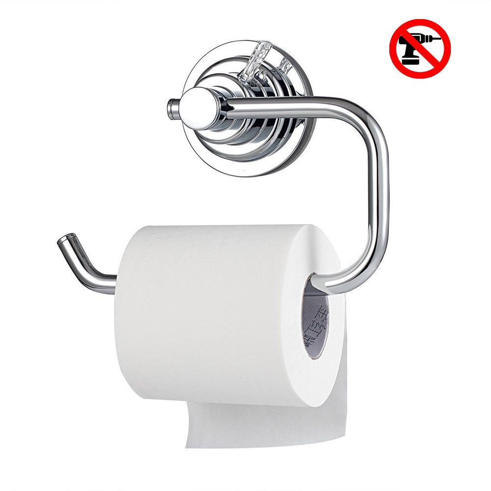 16 99 No Drill Vacuum Suction Cup Toilet Paper Roll Holder For Bathroom Kitchen Ebay Toilet Paper Roll Holder Toilet Paper Holder Toilet Paper