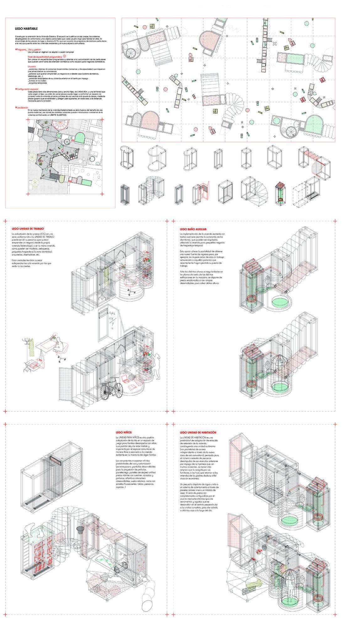 Isabel Gutiérrez Sánchez :: Thesis Special* // Escuela Técnica Superior de Arquitectura de Madrid, ETSAM // System of temporary-use domestic equipment for Lavapiés neighborhood (Madrid, Spain)