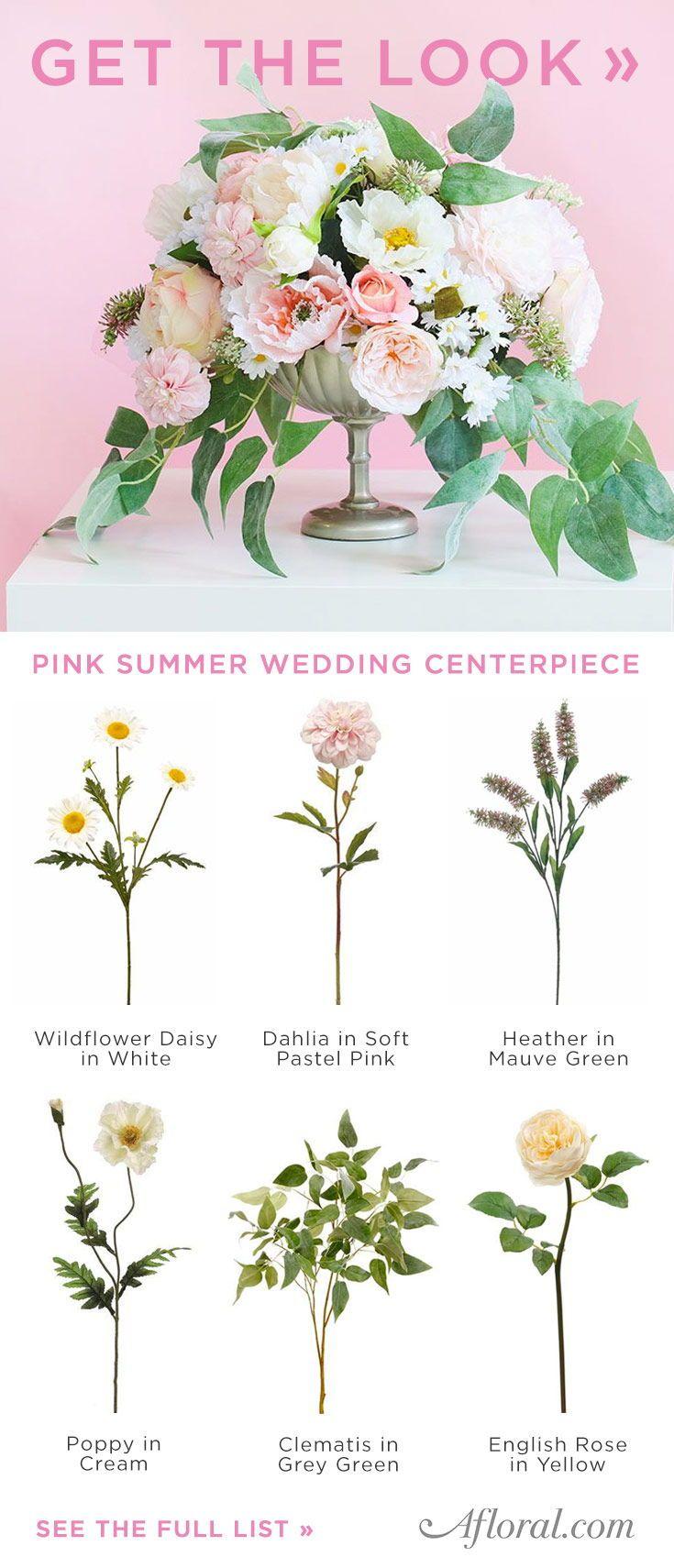 Get The Look: Pink Summer Wedding Centerpiece | Summer wedding ...