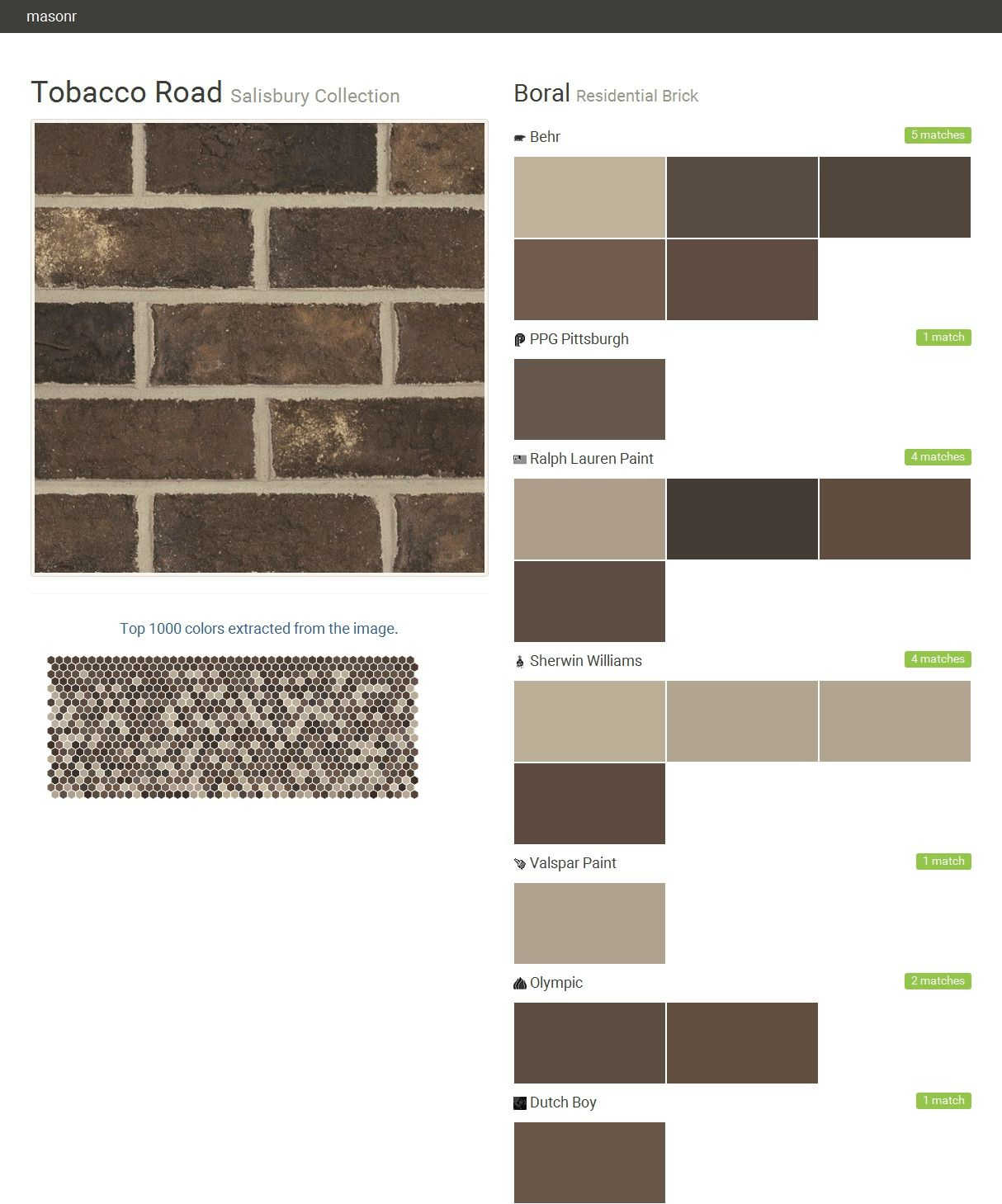 tobacco road salisbury collection residential brick boral behr tobacco road salisbury collection residential brick boral behr ppg paints