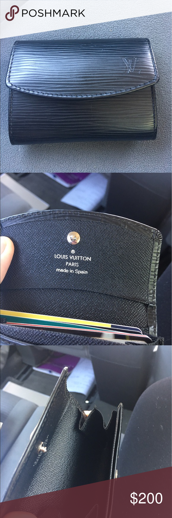 Louis Vuitton leather buisness/credit card holder Louis vuitton ...