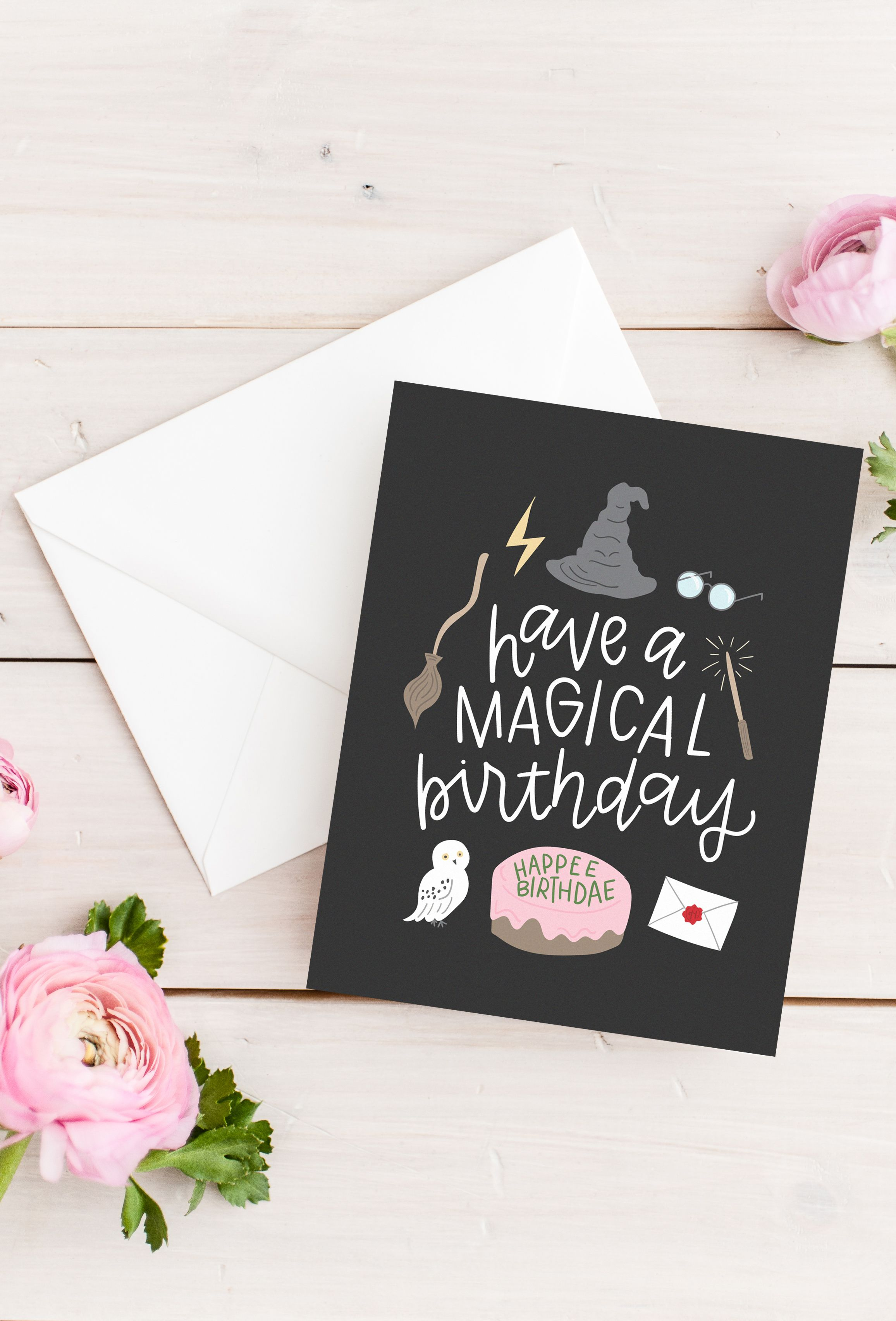 birthday card for harry potter fans wish them a magical