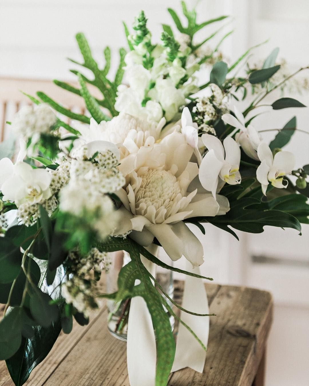 White Torch Ginger For A Perfect Hawaii Wedding Day Wedding Bouquet