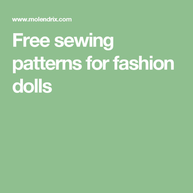 Free Sewing Patterns For Fashion Dolls Gone With The Wind Dolls