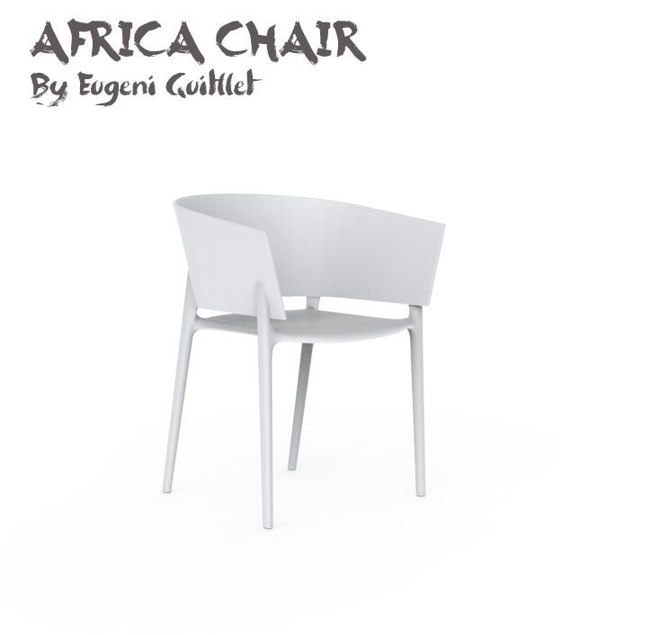 Africa Chair Empilable Indoor Outdoor Design Eugeni Quitllet Pour Vondom Avec Images Mobilier Design Chaise Fauteuil Design