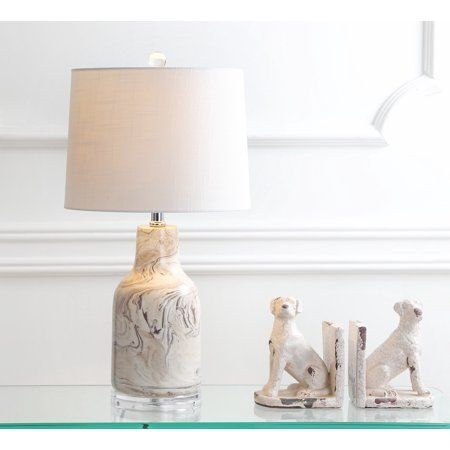amazing Ceramic LED Table Lamp, Gray/White by 27estore. Shop the best coastal decor pieces for your home!. #JonathanY #HomeDecor #Lamps #DesignerLamps #DecorativeLighting #ModernLighting #TableLighting #coastaldecor
