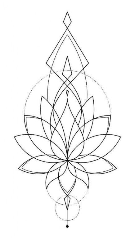 Tattoo Geometric Lotus Ink 67 Best Ideas