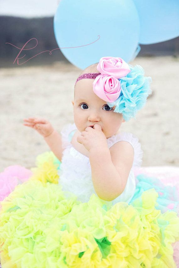 Azul Grand Shabby Chic Rose venda venda del bebé por KenaBows