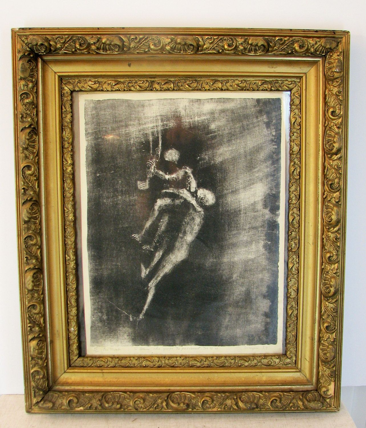 The Climb by June Wayne (1918 - 2011) #15/20 Hand Signed Lithograph 1957 ~ Beautiful Gilded Frame - pinned by pin4etsy.com