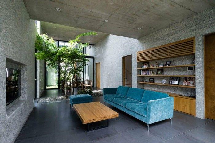 Wohnzimmer Moderne Architektur Offener Wohnplan