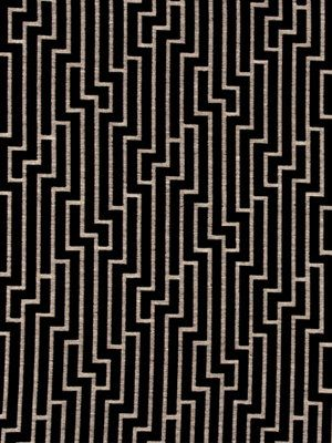 Black And Grey Geometric Velvet Upholstery Fabric For Furniture
