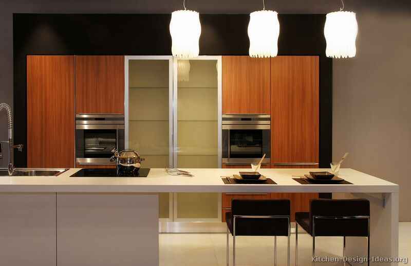 #Kitchen Of The Day: Asian Kitchen Design, Exotic Wood Cabinets, Unique  Pendant Part 27