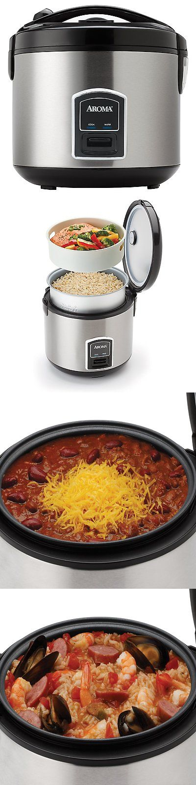 small kitchen appliances  aroma 20 cup electric rice cooker and food steamer stainless steel small kitchen appliances  aroma 20 cup electric rice cooker and      rh   pinterest com