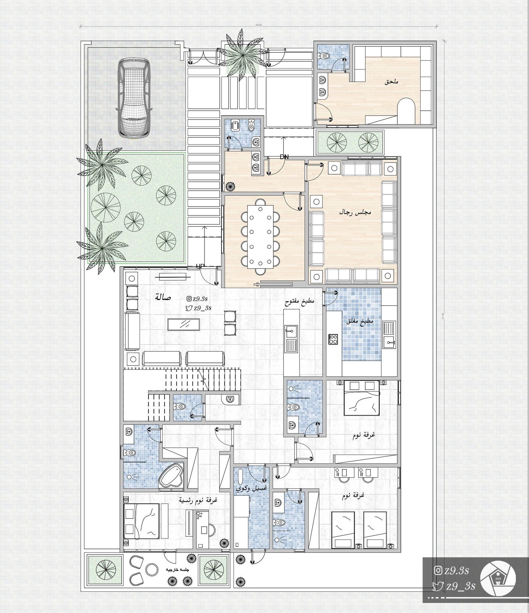 Pin By Nada On مخطط Basement House Plans Model House Plan Family House Plans
