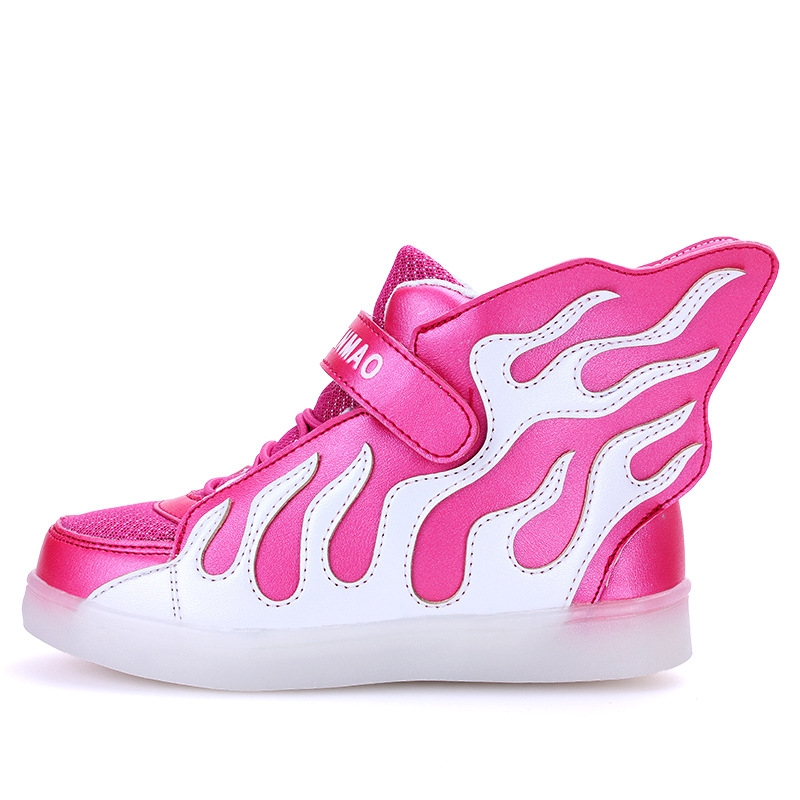 28.80$  Know more - http://aigrs.worlditems.win/all/product.php?id=32782651131 - LED girls shoes shined tenis led infantil luminous kids light up boys shoes glowing sneakers lights shining shoes USB Charge