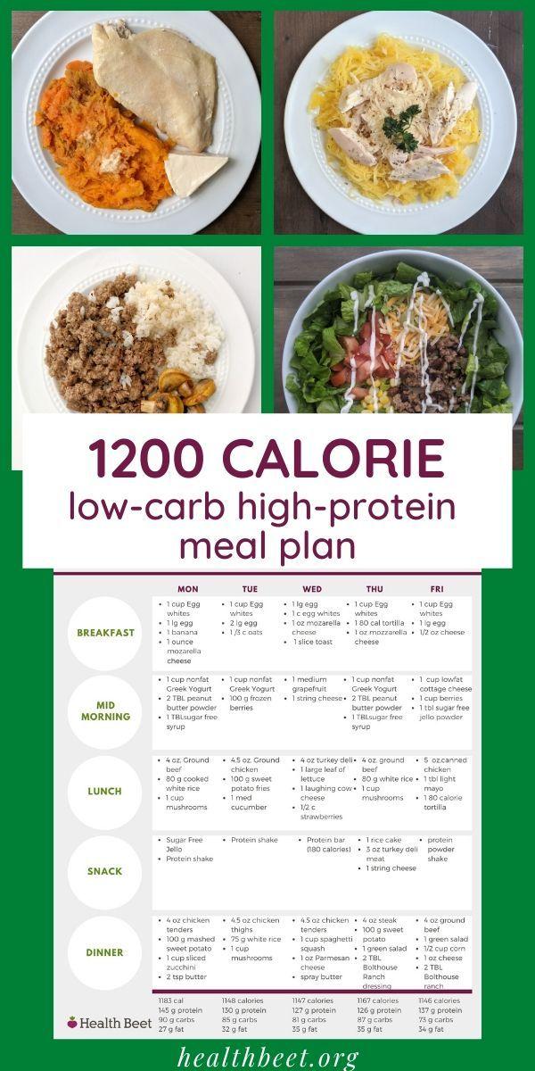 Printable Low carb meal plan