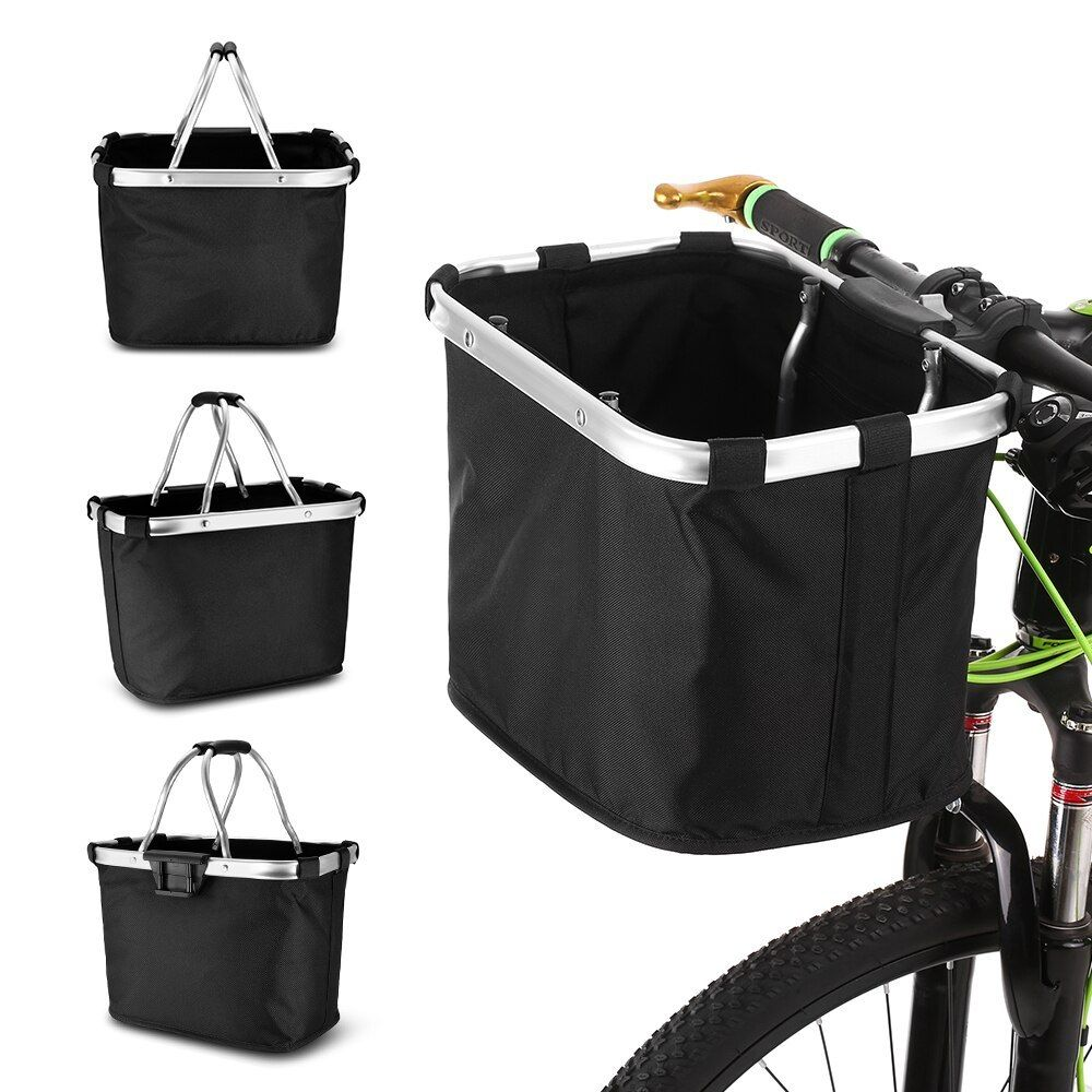 Bike Basket Pet Carrier Pouch for Dogs and Cats Bicycle Front Handlebar Basket