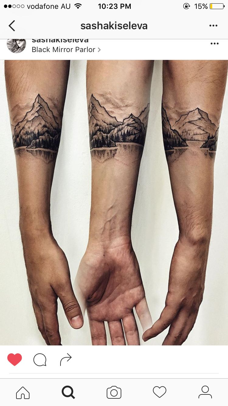 This Band Style Tattoo Pinterest Tatouage Tatouage Montagne