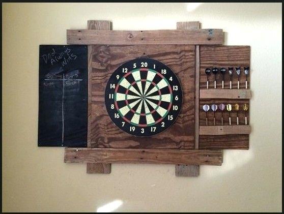 Dart Board Cabinet Backboard Rustic Wood Furniture Room Ideas Dartboard Dart Board Game Room Bar Game Room Ideas Man Caves