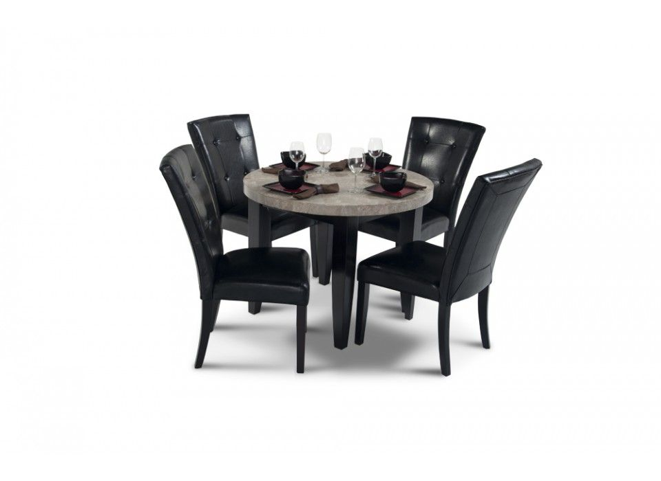 "montibello 40"" round dining 5 piece set 