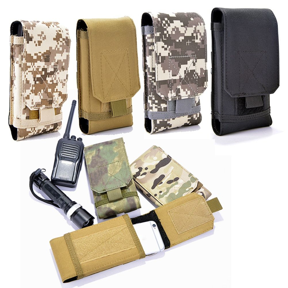 Good Quality Nylon Waist Phone Case Cover Molle Holster Army
