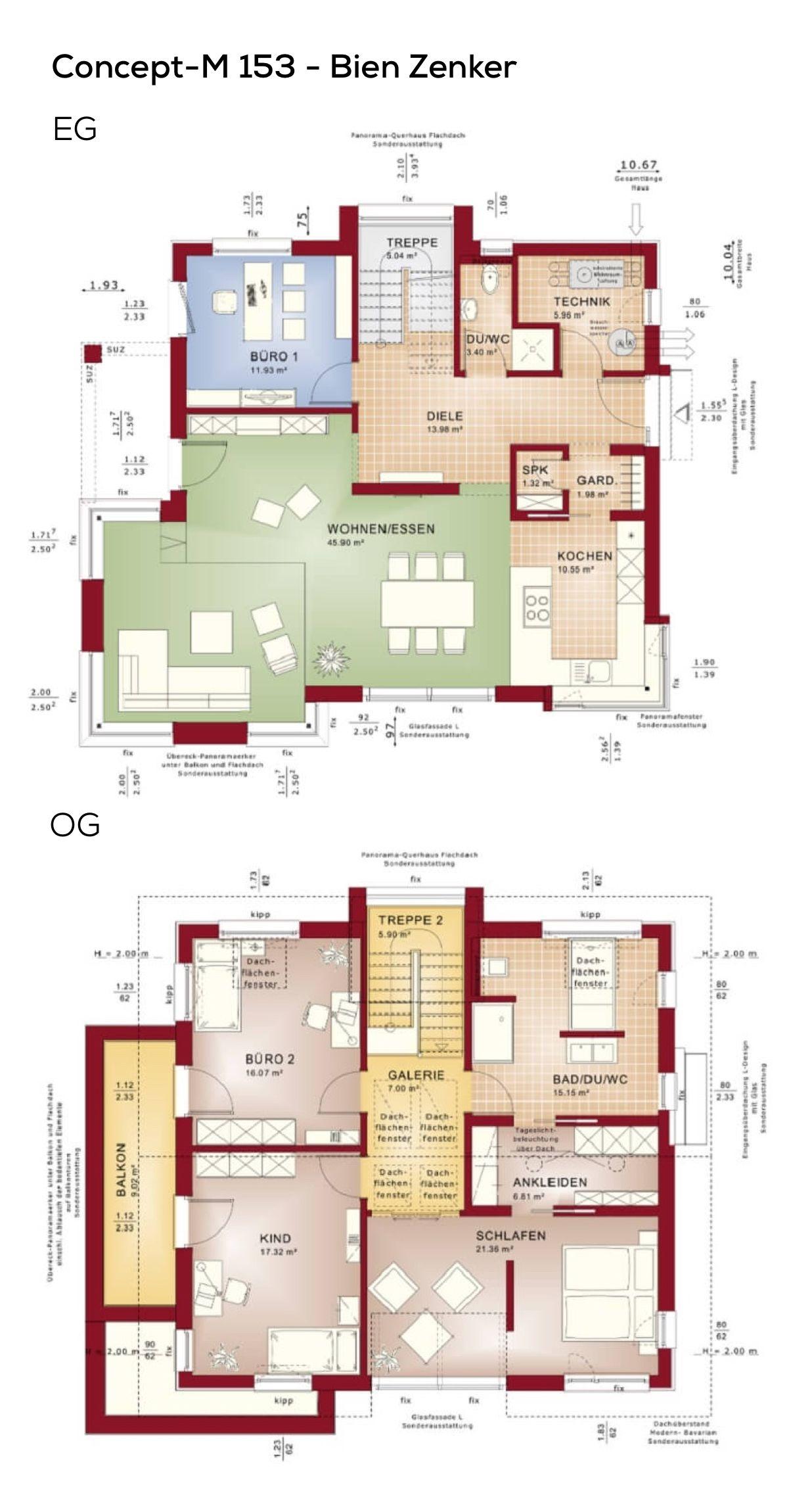 Grundriss Einfamilienhaus Neubau modern mit Galerie
