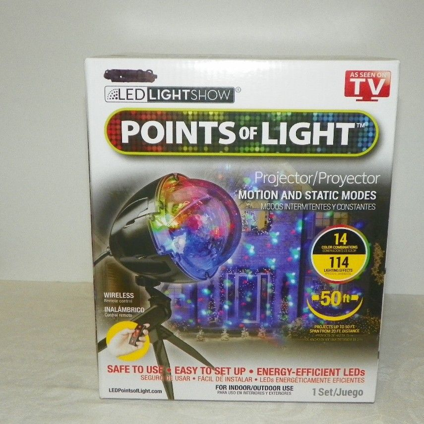 Christmas Lightshow Projection Points of Light with Remote 114