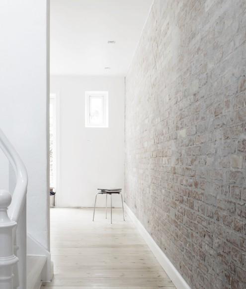 White washed brick wall?