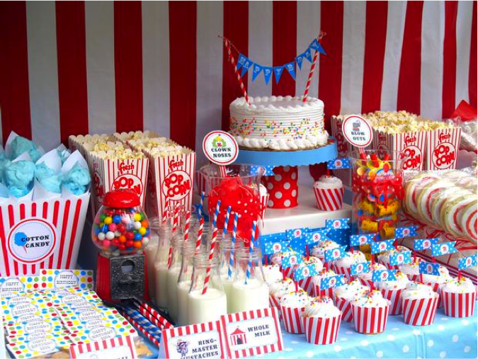 Welcome Babies, To The Circus Of Life | Circus Theme, Babies And Baby Shower  Table