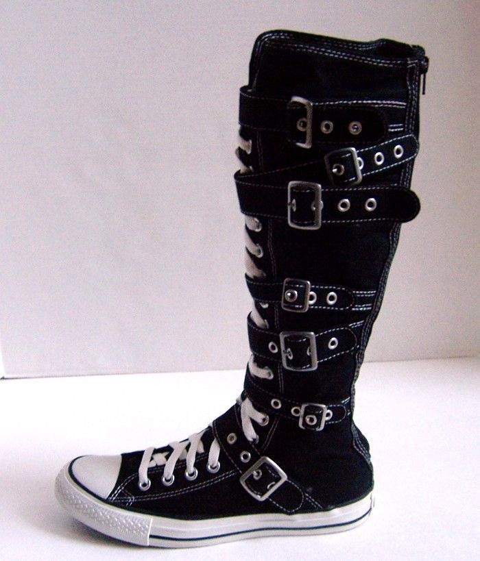 2a670a742a1a Converse All-Star Chuck Taylor XXHi Knee High Buckle Canvas Shoes Sz  9 -  Black  Converse  FashionSneakers