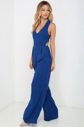 6efe26b327 Chic Royal Blue Jumpsuit - Sleeveless Jumpsuit - Backless Jumpsuit -  59.00