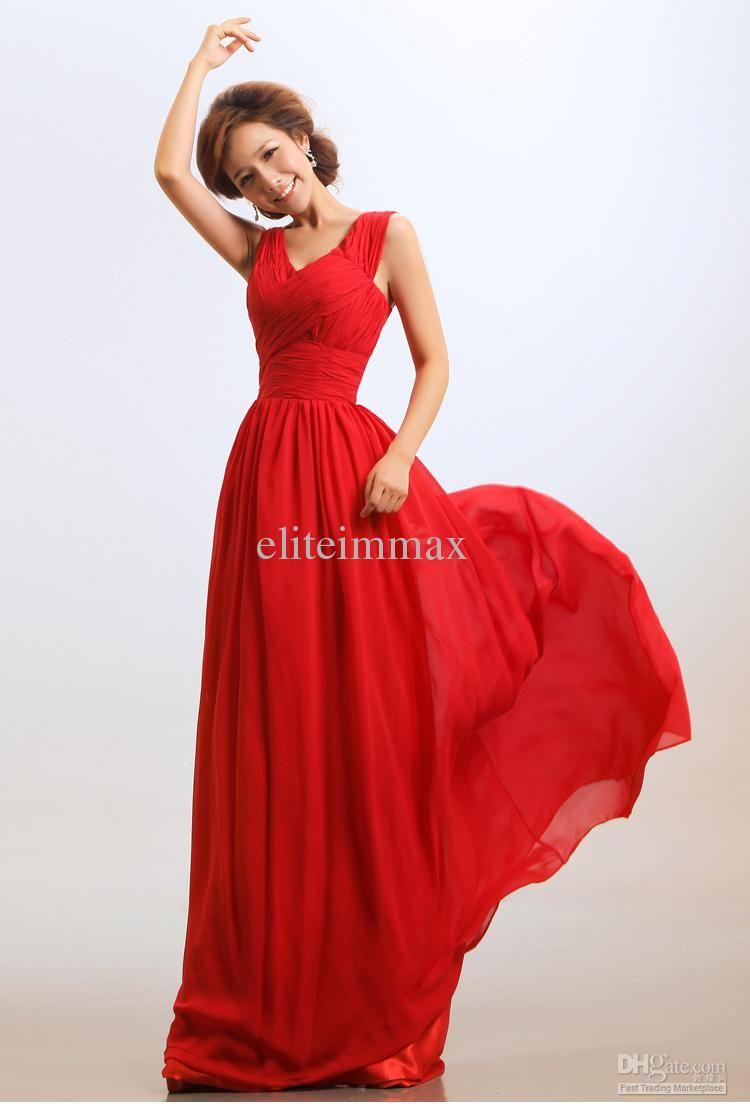 Plain Elegant Prom Evening Party Dresses Wedding Dresses Long Slim ...