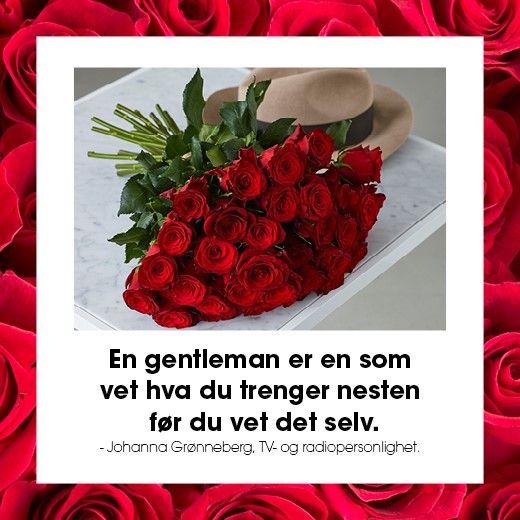 Vær en gentleman - kjøp blomster til din kjære. https://www.mestergronn.no/