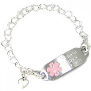 Sterling Hearts Medical Id Bracelet I Think My Fav So Far Simple And Just Cute Goes With Everything A Necessity