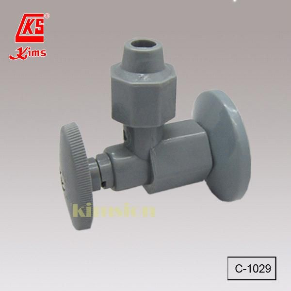 C-1029 Plastic 180 Open / Off Angle Valve with Flange (C-1029) - Hong Kong C-1029, Kims