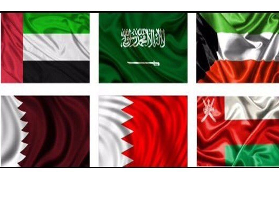Flags Of The Countries Of Gulf Cooperation Council From Top Left United Arab Emirates Saudi Arabia Kuwait Qatar Bahrain United Arab Emirates The Unit Emirates