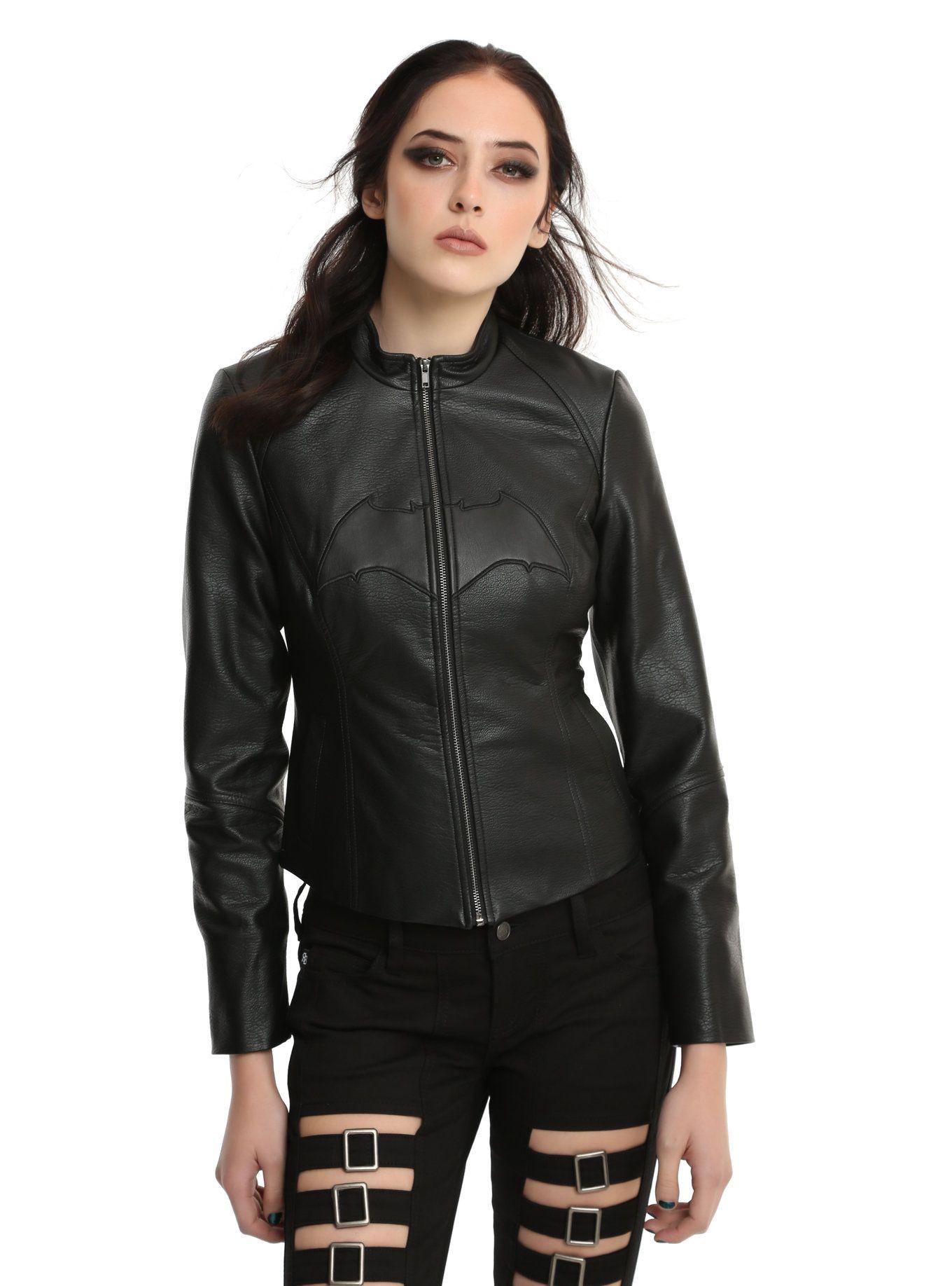 DC Comics Justice League Batman Faux Leather Girls Jacket