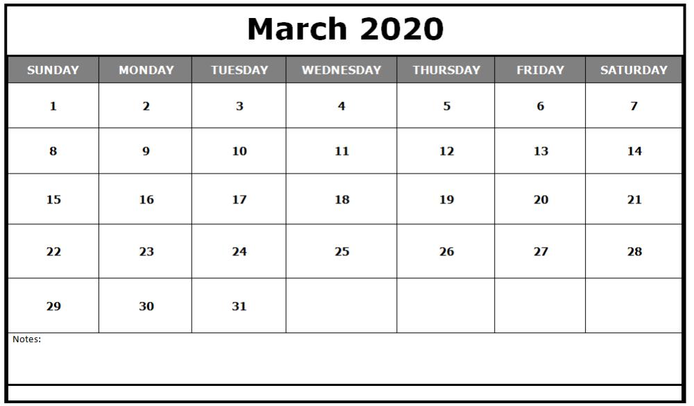 April 2020 Calendar Excel Sheet Printable Calendar Template Calendar Template Free Printable Calendar Templates