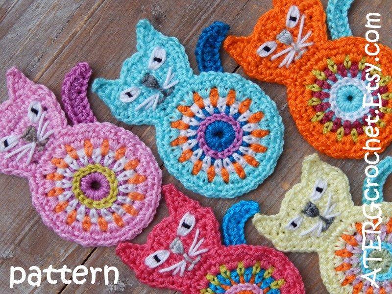 Crochet pattern CAT by ATERGcrochet by ATERGcrochet on Etsy | Crochê ...