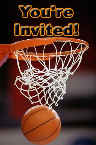 Free Basketball Theme Party Invitations Basketball Theme Party Basketball Party Basketball Birthday Invitations