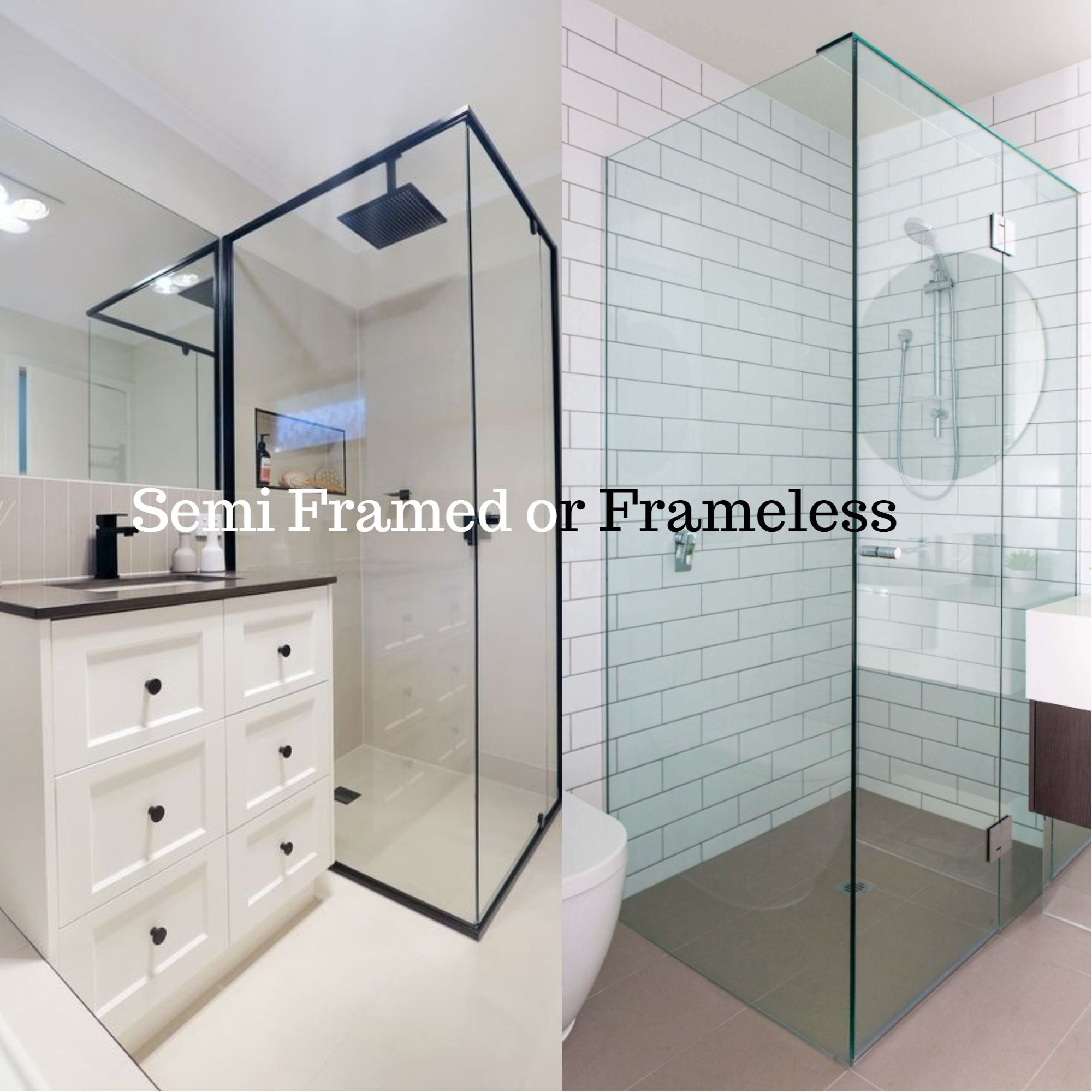 Often There Is A High Degree Of Confusion On The Difference Between The Semi Frameless And Frameless Showers Scr Bathroom Renovations Perth Bathroom Renovations